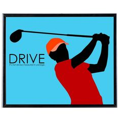 Drive Golf - SoHo Collection by Successories Motivational Posters