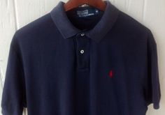 Men's Ralph Lauren Polo short sleeve Navy Blue shirt size M Medium #PoloRalphLauren #Polo