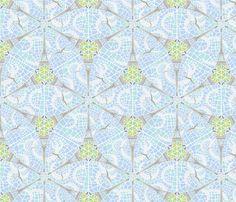 eiffel flower fabric by jorz on Spoonflower - custom fabric