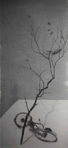 桃园物色NO.3 涂少辉 70x148 国画 绢本 2006 中央美术学院 Contemporary Chinese Oil Painting
