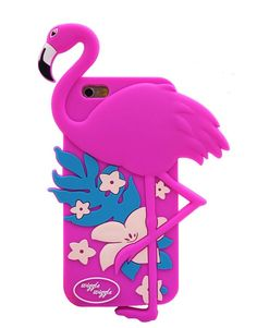 Flamingo shape soft silicone iPhone case. It protects your iPhone while the silky, soft-touch silicone feels great in your hand. Material: Soft Silicone Brand: We Heart Cases Compatible with following