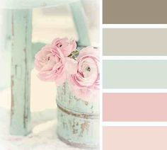 Pretty Pastels Not the exact colours I wanted, but easily made into the shabby chic scheme/ antique design!