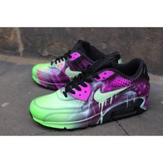 huge selection of cce0a b0cf4 Chaussure Nike Air Max 90 Candy Drip rose Art abstrait Airbrush Graffiti  France Soldes