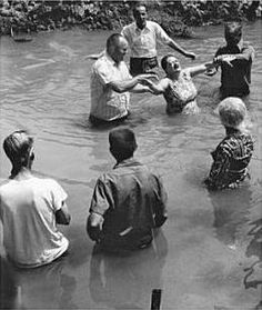 Born Again - River Baptism  Don't see it done much like this anymore...