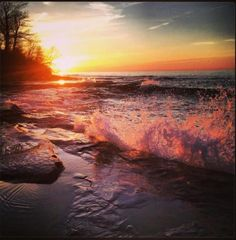 ~Sunset at Lake Ontario
