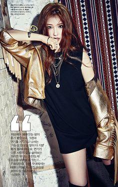 4minute's Jihyun for Cosmopolitan