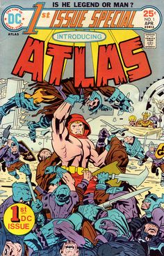 Atlas #1 (DC 1975) Cover Art by Jack Kirby Inked by D Bruce Berry
