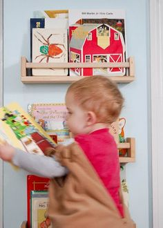 Not much needed in the way of instructions. Hang as you would the spice racks - you put screws in the walls and hook the shelves on the screw using the space that comes pre-installed on the shelves.    See more of the Bekvam kid's book shelf.
