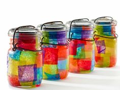 Doing diy jar crafts for homemade storage and decoration : crafts made with mason jars Cute Crafts, Crafts For Kids, Arts And Crafts, Diy Crafts, Creative Crafts, Decoration Crafts, Bottles And Jars, Glass Jars, Decoupage Jars
