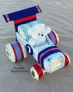Race Car Diaper Cake