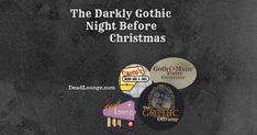 With somber and tormented apologies to Clement C. Christmas Music Playlist, Before Christmas, Xmas, Gothic, Night, Dark, Goth, Christmas, Navidad