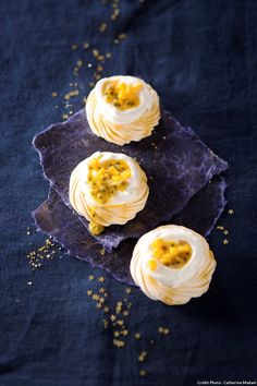 Mini-pavlovas aux fruits exotiques - De jolies pavlovas aux fruits exotiques, en format mini, pour épater et régaler vos invités !