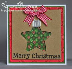 Card made by Durvina with Collectables Christmas Star (COL1360) by Marianne Design