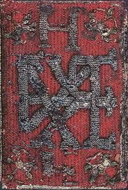 This book cover, embroidered by Elizabeth Tudor, covered a translation (in multiple languages) of the work 'Prayers or Meditations', by Queen Katherine Parr. The book was a gift to Henry VIII from Elizabeth.