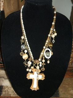 Chunky Statement Vintage Cross One of a Kind by UniqueDesignsbyCK, $39.99