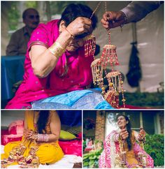 Choora ceremony in Hindu sangeet where bangles are put on the bride to be by her maternal uncle - Toronto Indian wedding photographer Big Al Studios   RINKI AND WILL'S INDIAN WEDDING: THE ONE WITH THE BREAK DANCERS WEDDING! #bigalstudios #torontoindianweddingphotographer #vancouverindianweddingphotographer #torontoindianweddingphotography