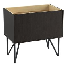 "Jute 36"" Vanity with Furniture Legs, 1 Door and 1 Drawer on Left"