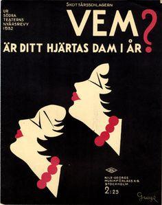 Vem är Ditt hjärtas dam i år?, 1932 (ill.: Gueye); ref. 16445