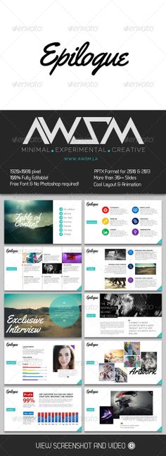GraphicRiver Epilogue PowerPoint Presentation 6581042