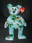 For Sale - Ty Beanie Babies I Love Hawaii Teddy Bear with Heart w/ Tag Excellent 2004 RARE