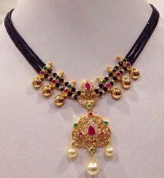 Black beaded chain... Very pretty