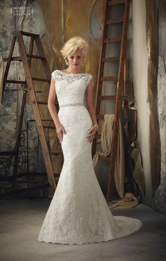 Beautiful venice lace applique on net. #bridal #1901, 2000 Dreams Bridal 858-541-0684