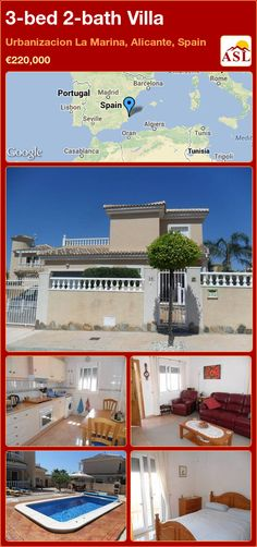 3-bed 2-bath Villa in Urbanizacion La Marina, Alicante, Spain ►€220,000 #PropertyForSaleInSpain