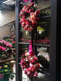 Silk rose wreaths - Rogers Gardens C.B.I.D. HOME DECOR and DESIGN
