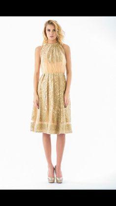 Glamour dress Folds Golden