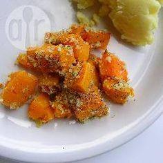 Butternut Kürbis überbacken, Butternutkürbis, Butternuss kürbis, Kürbis Beilage, lecker http://de.allrecipes.com/rezept/10000/-berbackener-k-rbis.aspx