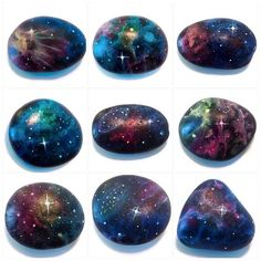 Newest batch of Galaxy stones ! These and more will be listed
