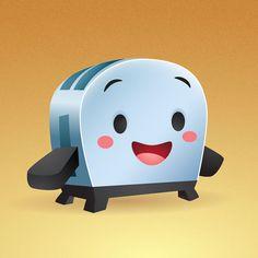 Kawaii Little Toaster By Jerrod Maruyama