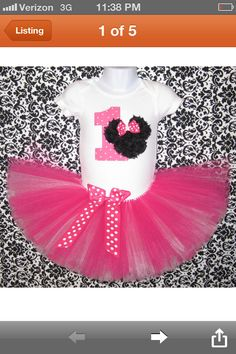 Baby Minnie Mouse 1st Birthday Organic Homemade Custom