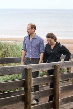William and Kate at the Dalvay by the Sea Resort on Prince Edward Island during the 2011 Royal Tour of Canada.