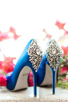 Wedding Shoes | Badgley Mischka | Something Blue | Something Pretty | Malibu Wedding | Los Angeles Wedding Photographer | Fine Art Wedding Photographer | Dennis Roy Coronel Photography | Southern California Bride | www.dennisroycoronel.com/blog