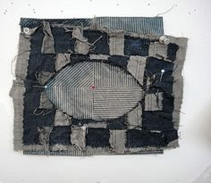 Denim weaving ticket. Basket?  Looking for direction initiated