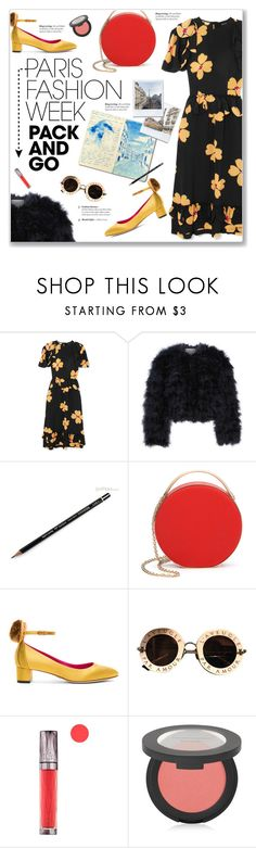 """Pack and Go: Paris Fashion Week"" by kellylynne68 ❤ liked on Polyvore featuring Simone Rocha, Chelsea28, 3.1 Phillip Lim, Oscar Tiye, Gucci, Urban Decay, Bare Escentuals, parisfashionweek and Packandgo"