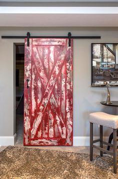 The X Barn Door is a versatile statement piece for your home! Add an antiqued paint finish for a unique barn look, or keep it simple & timeless with a paint or stain! As Pictured: Alder + Stone Stain Decor, House Design, Home Projects, Interior Barn Doors, Barn, Home Decor, Old Doors, Doors, Rustic House
