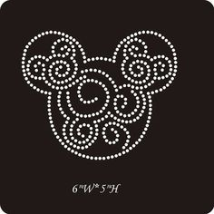 Mickey scroll rhinestone transfer  iron on by LaLaBoutiqueBling, $5.99: