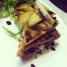 Ezekiel french toast all dressed up with pears! #BreakfastDessert #Ezekiel #Healthy