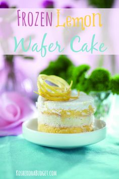 Frozen Lemon Wafer Cake