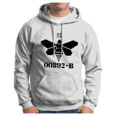 00892-B Hoodie Hooded Sweatshirt Breaking Meth Bad Chinese China Drum Heisenberg Los Pollos Hermanos Vominos Pest A-1 Walter Chickn Hoodie Sweatshirt XL Ash