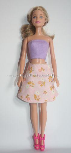 Barbie szoknya letölthető szabásmintával. /Barbie skirt.