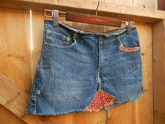 Eco/ Upcycled/  Retro/ Boho/ Hippie/ Tattered Jean by loveysworld, $25.00