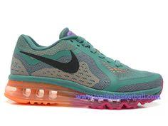 new concept 6f811 31172 Nike Air Max 2014 GS Chaussures De Course Pour Femme Fille Noir Olive  Orange 621078-305