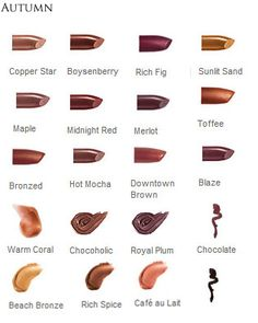 Mary Kay Lipstick by Season, Autumn or T3