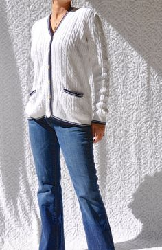 Early 90s Ralph Lauren Cable Knit Sweater  by NettysGirlVintage