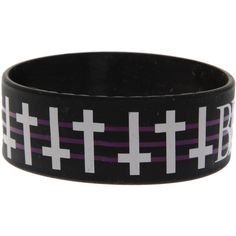 Black Veil Brides Crosses Rubber Bracelet | Hot Topic ($7) ❤ liked on Polyvore featuring jewelry, bracelets, accessories, rubber bracelets, black veil brides, bride jewelry, crucifix jewelry, rubber jewelry, cross bangle and bridal jewelry