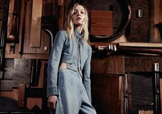 Command And Control: Sasha Pivovarova By Craig Mcdean For Uk Vogue March 2015