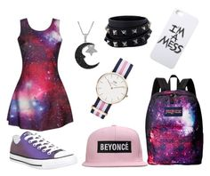 """""""space"""" by musixlady on Polyvore featuring мода, Converse, JanSport, LAUREN MOSHI, Daniel Wellington, Jewel Exclusive, Valentino, women's clothing, women и female"""